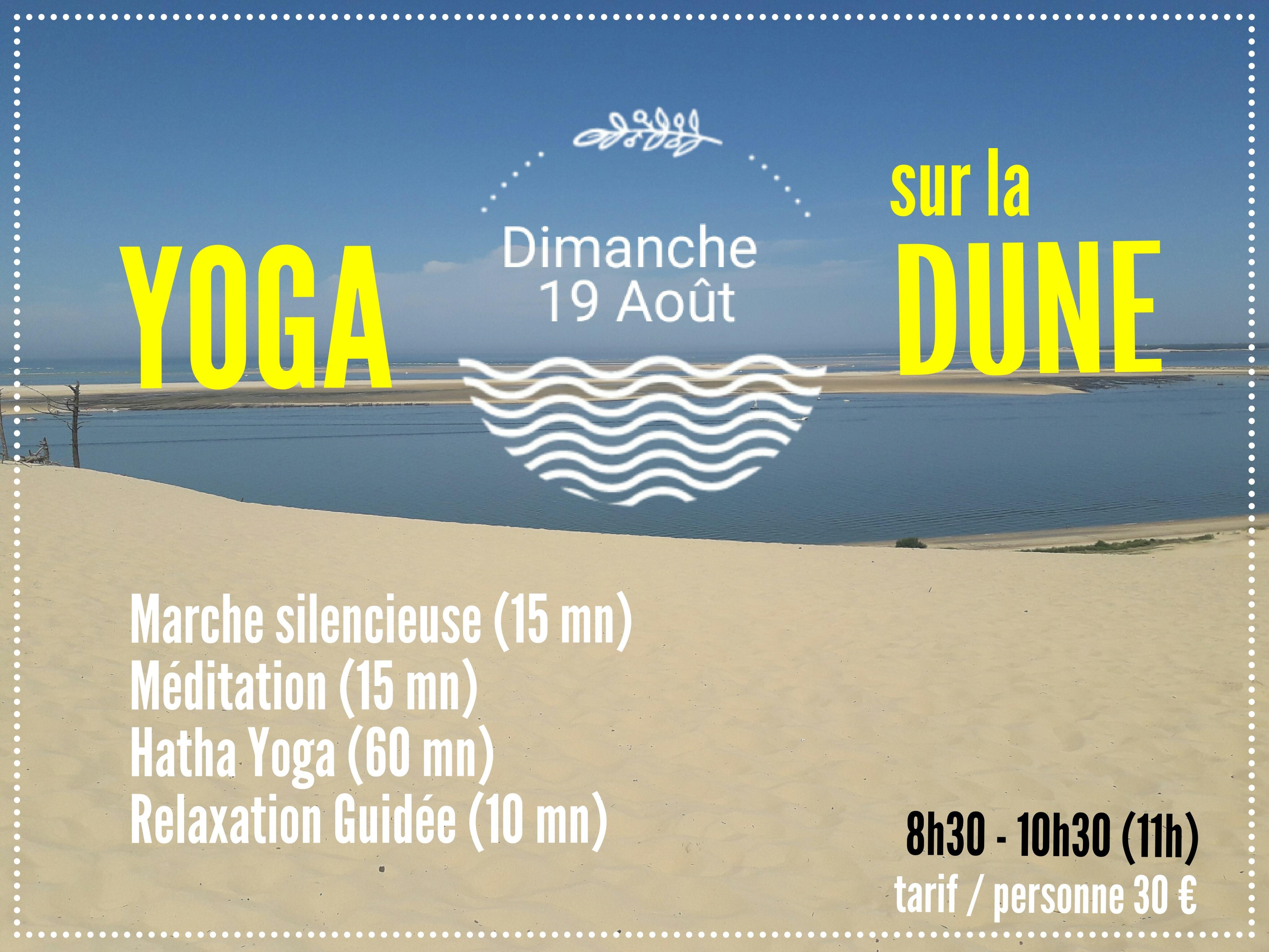 Yoga sur la Dune du Pyla