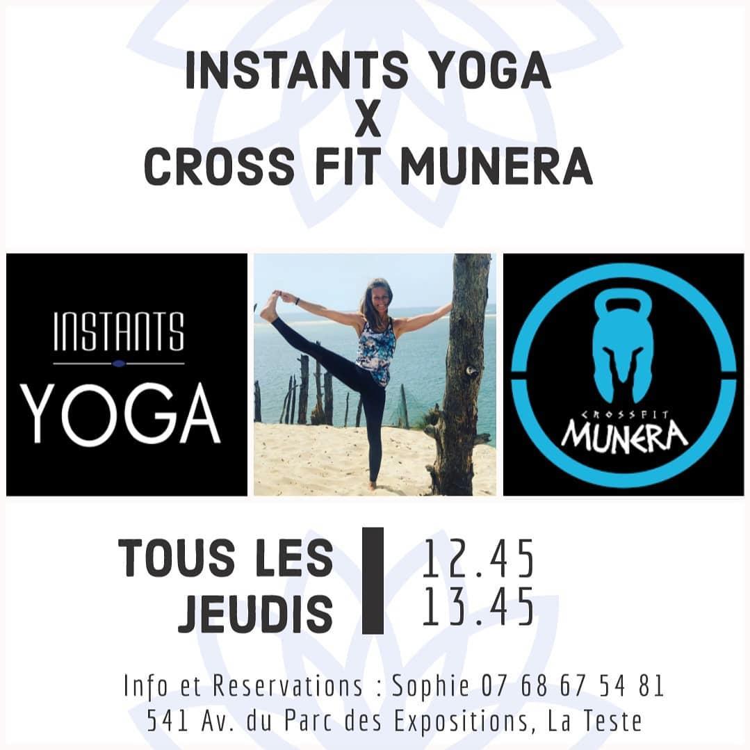 Yoga à La Teste de Buch tous les Jeudis chez Cross Fit Munera